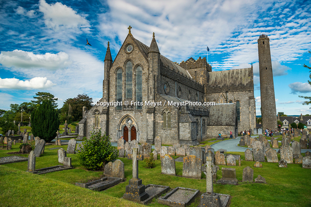 Kilkenny, Southern Ireland, August 2016.  The Black Abbey of Kilkenny, Ireland, is a Catholic priory of the Dominican Order, dedicated to the Holy and Undivided Trinity. Black Abbey was established in 1225 as one of the first houses of the Dominican Order in Ireland. Kilkenny is a medieval town in southeast Ireland. Its grand Kilkenny Castle was built in 1195 by Norman occupiers. The town has deep religious roots and many well-preserved churches and monasteries, including imposing St. Canice's Cathedral and the Black Abbey Dominican priory, both from the 13th century. A coastal road trip from Kilkenny to Cork via Wexford and Waterford.  Photo by Frits Meyst / MeystPhoto.com