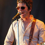 .. Pic shows   Noel Gallagher and The High Fling Birds at the  V Festival at Hylands Park,Chelmsford on Saturday 18 August 2012...The line up includes  the likes of The Stone Roses, Tom Jones, The Killers, Nicki Minaj, Tinie Tempah, Example, Olly Murs, Professor Green and Ed Sheeran over the two day festival.