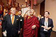 HHDL in European Parliament, on the left Mr Elmar Brok, Chairman of Comitee on Foreign Affairs European Parliament's