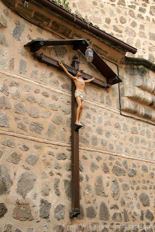 Europe, Spain, Toledo. Santa María la Blanca Church exterior.