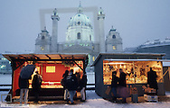 Christmas market at Karl s Cathedral Vienna, Austria, Vienna, 4. district, Karl s church