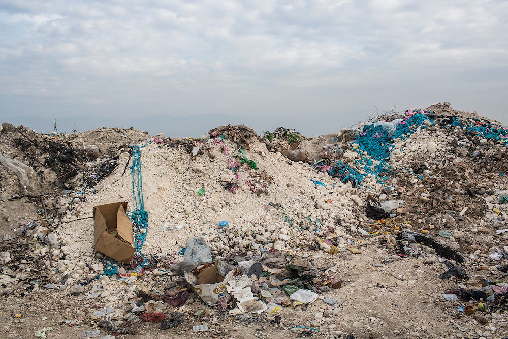 Trash along the seaside in the Carrefour area on Sunday, December 14, 2014 in Port-au-Prince, Haiti. The coast, home to some of Port-au-Prince's pooreset neighborhoods, has become a dumping ground for household and industrial trash.