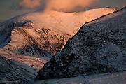 3 Edition A1 - 5 Edition A2<br /> <br /> The clouds pulled up and revealed the highest caf&eacute; in the UK, sitting atop Yr Wyddfa (Snowdon) in the glorious evening light. I envy those supping a hot coffee as I froze on a snowy wasteland a few miles away !