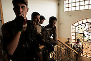 Iraq, Qayyara: On October 2016, Fighters of Iraqi tribe sunny militia in Qayyara, south of Mosul. Alessio Romenzi