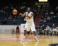 "Ole Miss' Reginald Buckner (23) vs. SMU at the C.M. ""Tad"" Smith Coliseum in Oxford, Miss. on Tuesday, January 3, 2012. Ole Miss won 50-48."