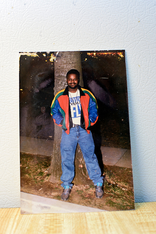 Washington, D.C. - April 03, 2017:  Claudette Craig believes this photo of her son Charles &quot;Chuckie&quot; Craig shows him as a teenager. <br /> <br /> She's lost two of her five children to gun violence. Charles &quot;Chuckie&quot; Craig, Kevin Durant's coach and mentor, was gunned down April 30th, 2005 in Laurel, Md., at the age of 35. Durant wears #35 as tribute to Craig.<br /> <br /> Her eldest, Ryan, a marine, was killed during a family visit to Georgia by a rival of his cousin when he was 20-years-old. <br /> <br /> NBA Superstar Kevin Durant's jersey number &quot;35&quot; is a tribute to his rec. league coach and mentor Charles &quot;Chuckie&quot; Craig, who was gunned down in at a night club in Laurel, Md., in 2005 when he was 35 years old. <br /> <br /> CREDIT: Matt Roth for The New York Times<br /> Assignment ID: 30204524A