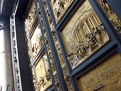 Ghiberti Paradise Bapistery Bronze Door Duomo Cathedral, Florence, Italy. 2nd July, 2011..©Pic : Michael Schofield.