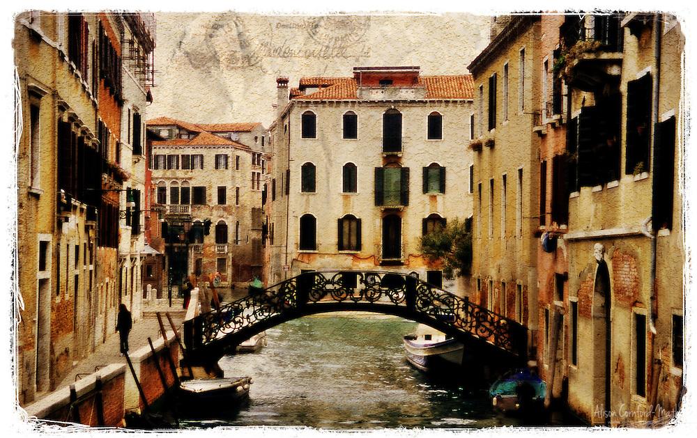 Venice, Italy 2 - Forgotten Postcard digital art collage