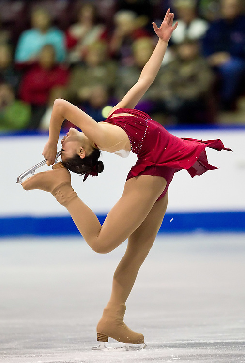 GJR343 -20111028- Mississauga, Ontario,Canada-  Mirai Nagasu of The United States skates his short program at Skate Canada International, October 28, 2011.<br /> AFP PHOTO/Geoff Robins