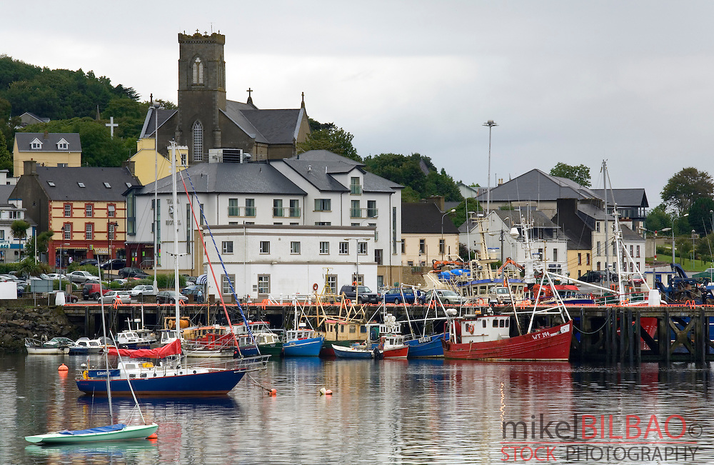 fishing boats on harbour.<br /> Killybegs. County Donegal. Republic of Ireland.