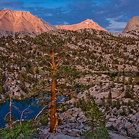 The view from our camp site in Sixty Lakes Basin