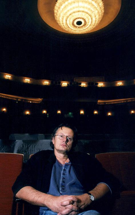 Germany - Deutschland; Theater, theatre, Volksbuehne; <br /> FRANK CASTORF, Intendant + Regisseur an <br /> der Volksb&uuml;hne am Rosa-Luxemburg-Platz in Berlin-Mitte Berlin 16.09.1994