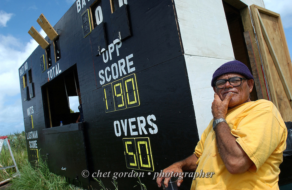 "Scoreboard operator ""Timbo"" at the Bailey's Bay Cricket Club in Bailey's Bay, Bermuda on Saturday, June 6, 2009."