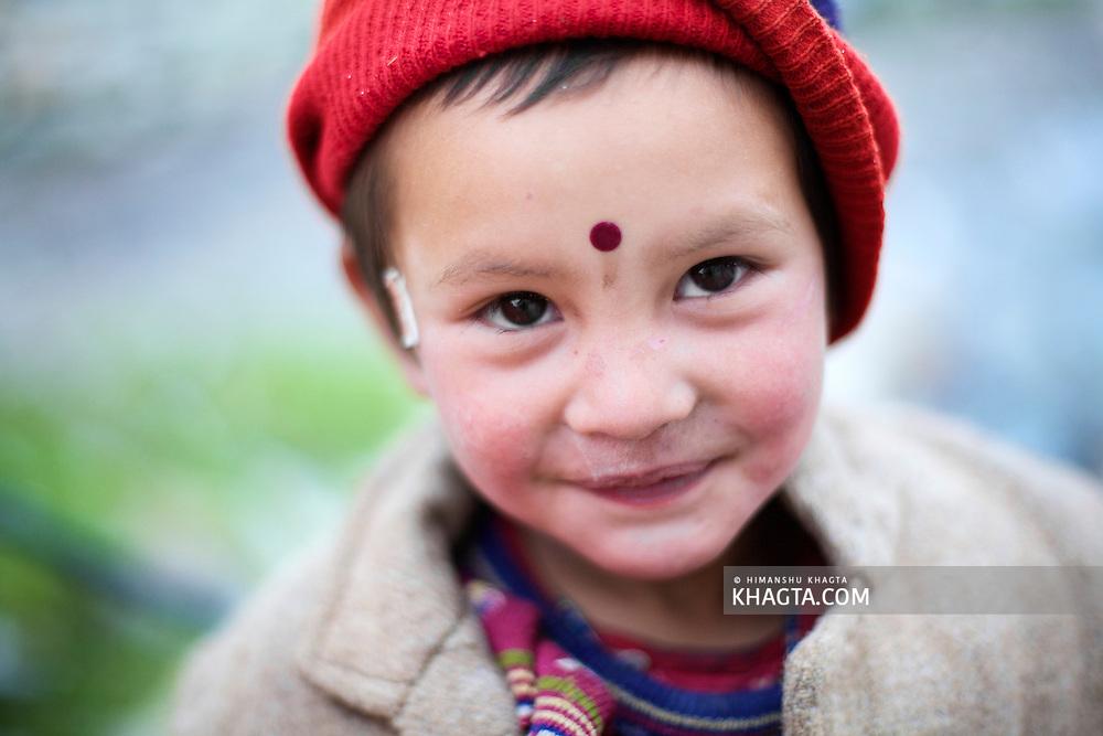 A cute girl from Chitkul Village of Kinnaur.