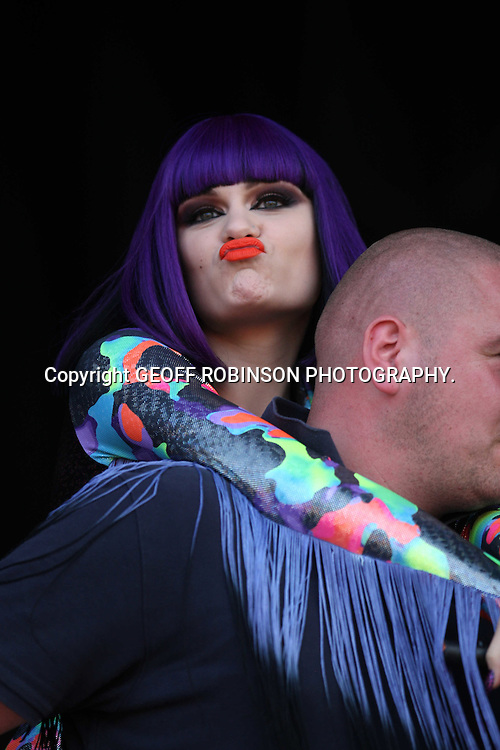 PIC BY GEOFF ROBINSON PHOTOGRAPHY 07976 880732...PIC SHOWS JESSIE J  AT  THE V FESTIVAL IN CHELMSFORD,ESSEX,ON SATURDAY AFTERNOON  20 AUGUST... Over 100,000 music fans are expected to head to Chelmsford this weekend for the 16th V Festival at Hylands Park...The two-day music festival will feature performances by Arctic Monkeys, Dizzee Rascal, Eminem and Pendulum...
