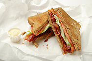 Bacon, Lettuce and tomato sandwich.