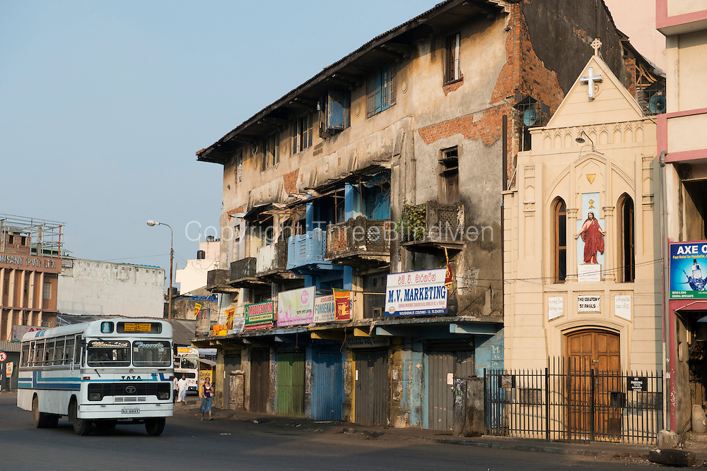 The Abdeen Building and St. Pauls Oratory in the Pettah. On Wolfendhal Street..2013