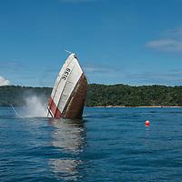 The sinking of KM Kuraman, in Tunku Abdul Rahman Park, Kota Kinabalu, Sabah, Malaysia.