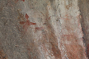 Impala and zebra depicted in San bushman rock paintings, estimated at around 2000 years old, in Nswatugi Cave in Matobo National Park, Zimbabwe.