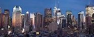 NY140A skyline Times square