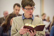 Matthew Kelpe of Wildwood, Mo., sings during Matins at the 2017 LCMS Life Conference on Saturday, Jan. 28, 2017, in Arlington, Va. LCMS Communications/Erik M. Lunsford