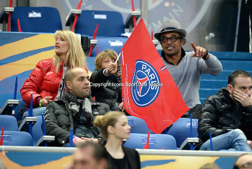 ISABELLE CAMUS / YANNICK NOAH  - 11.04.2015 -  Bastia / PSG - Finale de la Coupe de la Ligue 2015<br />Photo : Visual / Icon Sport