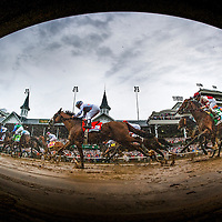The field for the 2013 Kentucky Derby races under the twin spires for the first time as Orb with Joel Rosario aboard goes on to win Kentucky Derby at Churchill Downs in Louisville, KY on May 04, 2013. (Alex Evers/ Eclipse Sportswire)
