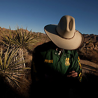 Portrait of undercover special agent with the National Park Service who conducts investigations into cultural resource crimes on public lands. Photographed for Preservation Magazine.