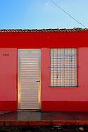 Colorful house in San Antonio de los Banos, Artemisa, Cuba.