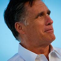 TAMPA, FL -- November 29, 2011 -- Republican Presidential candidate Gov. Mitt Romney speaks at the Port of Tampa during a campaign stop in Tampa, Fla., on Tuesday, November 29, 2011.  (PHOTO / CHIP LITHERLAND)