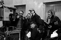 "Fred Murphy, Jeffrey Bernstein, David Koepp, Nils Johnson, Mary Bailey on the set of ""Ghost Town"" (Dir: David Koepp, 2008)"