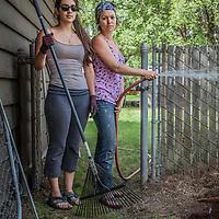 Alexia Buedea and Karen Florian of G&G Garden Services apply their profession in South Addition, Anchorage  alexia.guedea@yahoo