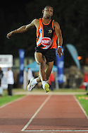 STELLENBOSCH, South Africa - Monday 15 April 2013, Zarck Visser in the mens long jump during the Varsity Athletics meeting at the University of Stellenbosch's Coetzenburg stadium..Photo by Roger Sedres/ ImageSA