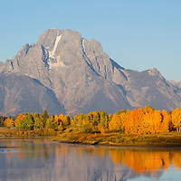Grand Teton National Park in autumn from Oxbow Bend