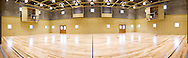A muliti-use gym panoramic stitched from several images