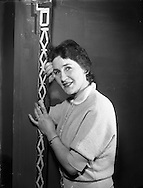 Kitty Concannon who Plays the Principal Girl in 'Desert Song' by the Mullingar Choral Society.28/11/1956