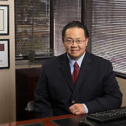 Executive portrait of David Lu of Morgan Stanley photographed in his office by Dallas corporate photographer William Morton of MortonVisuals.