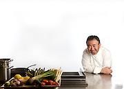 Tetsuya Wakuda in his Sydney restaurant kitchen.