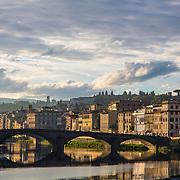 Sunrise, Arno River; Firenze; Florence; Italy