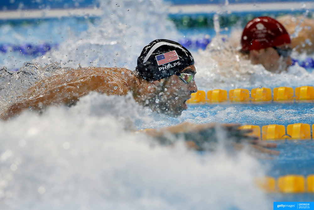 Swimming - Olympics: Day 6   Michael Phelps of the United States in action during the Men's 100m Butterfly Semifinal during the swimming competition at the Olympic Aquatics Stadium August 11, 2016 in Rio de Janeiro, Brazil. (Photo by Tim Clayton/Corbis via Getty Images)