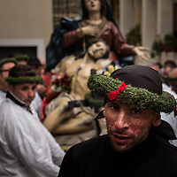 A Battente follows the procession in Nocera Terinese