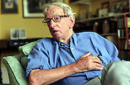 English historian and Marxist, Eric Hobsbawm, in his Hampstead home, London, Britain