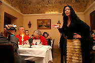 "Raquel Tavares performing at ""Bacalhau de Molho"" restaurant. She is one of the young generation of fado singers and players that renewed the music scene in during the last years."