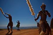 April 2009. Traditional Dancers at Phezulu Safari Park, Valley of a Thousand Hills, KwaZulu Natal. South Africa.