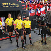 Officials lead Chile and Panama walk onto the field for a Copa America Centenario Group D match between the Chile and Panama Tuesday, June. 14, 2016 at Lincoln Financial Field in Philadelphia, PA.