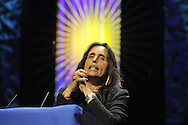Native American activist Winona LaDuke speaks as the Ware Lecturer at the Unitarian Universalist General Assembly in Minneapolis, MN June 2010