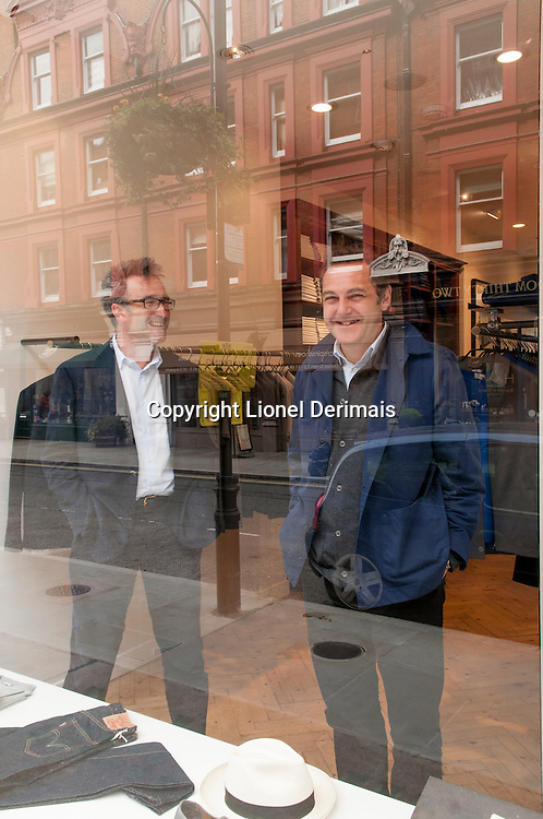Nicholas Brooke and Dominic Hazlehurst, Sunspel, Chiltern street, London.