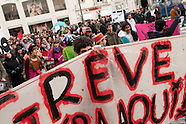 Crisis - General strike : Protest against Portuguese government