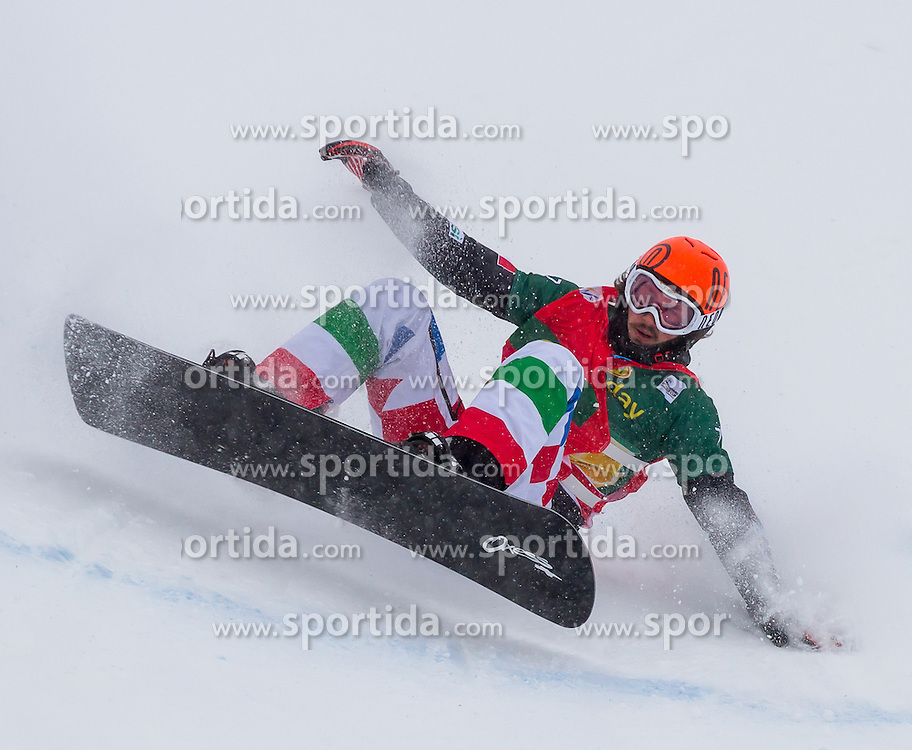 07.12.2012, Montafon Seebliga, Schruns, AUT, FIS Worldcup SBX, Spezialbewerb, Herren, 2. Lauf, im Bild Tommaso Leoni (ITA) Tommaso Leoni of Italy in action during 2nd run of mens Special Event of the SBX Weltcup at the Montafon Seebliga course, Schruns, Austria on 2012/12/07. EXPA Pictures © 2012, PhotoCredit: EXPA/ Peter Rinderer