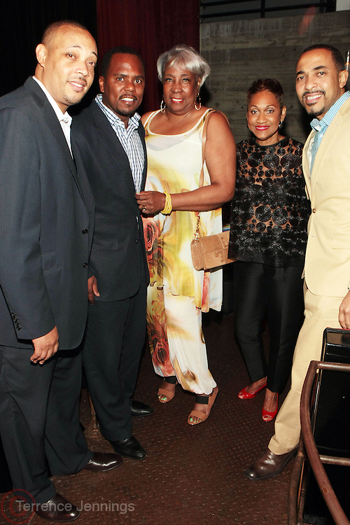 12 September 2013- Brooklyn, NY: (L-R) Dr. George Jenkins, Dr. Remeck Hunt, Mattie L. Turner, Guest, and Dr. Sampson Davis attend the Farewell to Summer 2013 Benefit Concert for the Ajile Turner Foundation held at the Galapagos Art Space on September 12, 2013 in Brooklyn, NY. ©Terrence Jennings